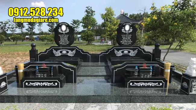 mộ đôi đá granite