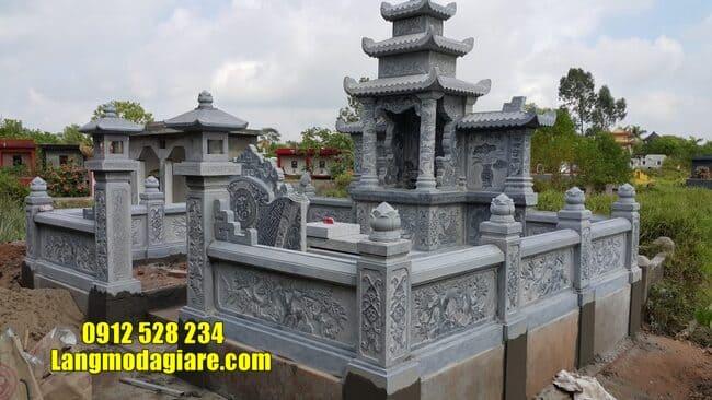 mẫu lăng mộ đá tại Quảng Nam đẹp