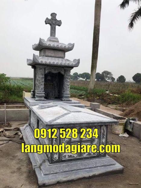 mẫu mộ cho người bên đạo bằng đá