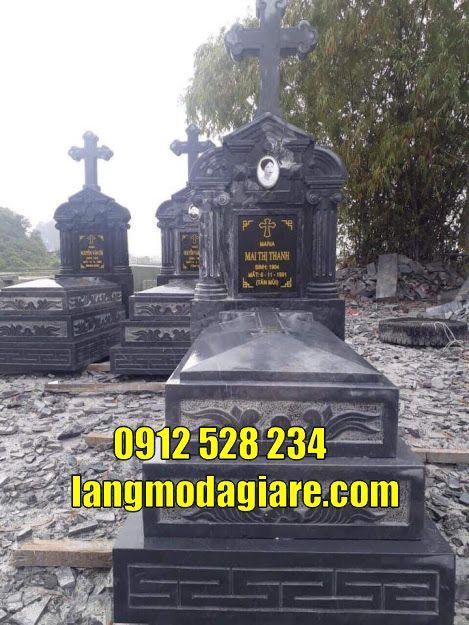 mẫu mộ của người bên đạo bằng đá đẹp
