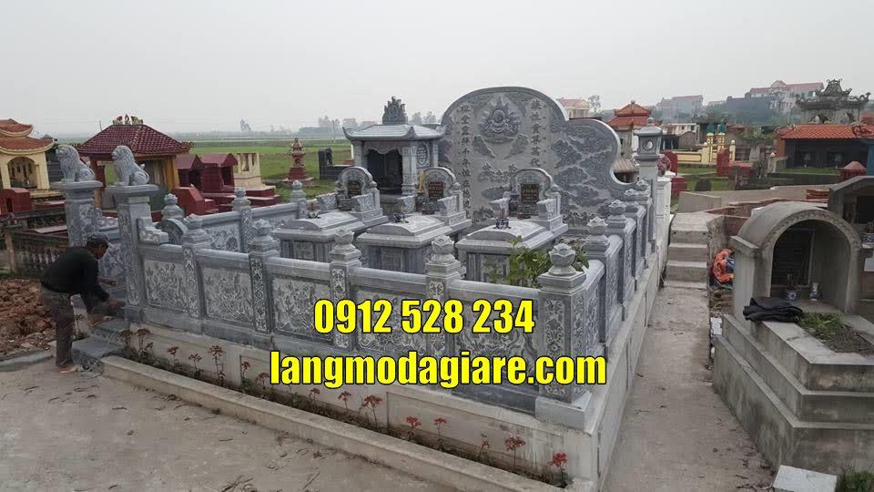 khu lăng mộ gia đình bằng đá xanh tự nhiên