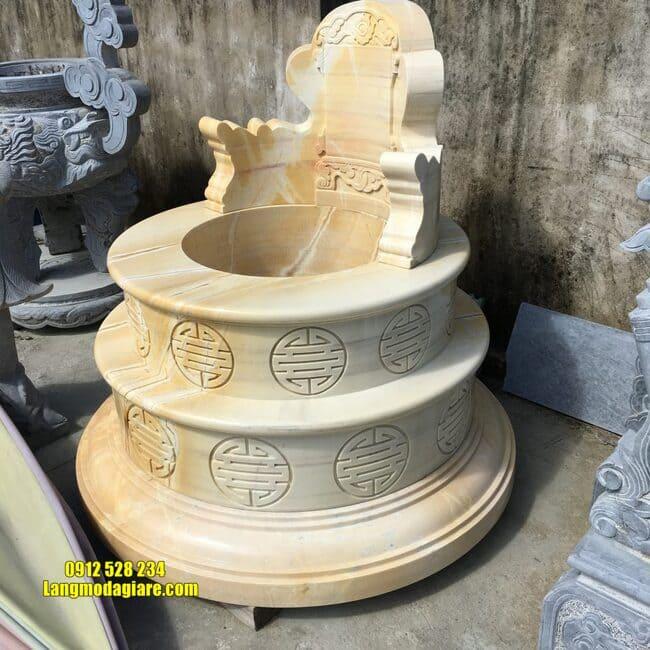 mẫu mộ tròn bằng đá vàng đẹp