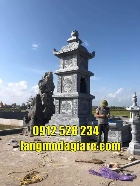 mẫu tháp mộ đẹp bằng đá giá rẻ