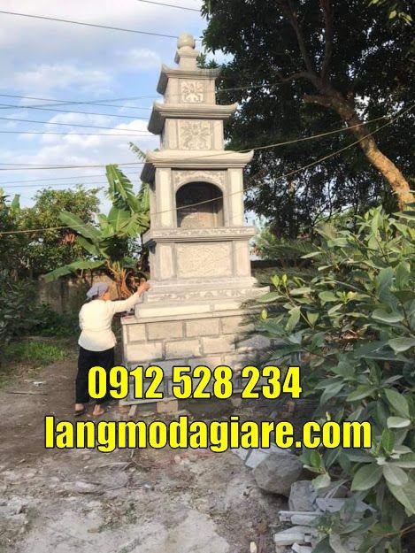 tháp mộ để tro cốt đẹp bằng đá giá rẻ