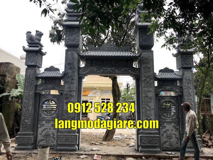 xây cổng nhà thờ họ bằng đá giá rẻ