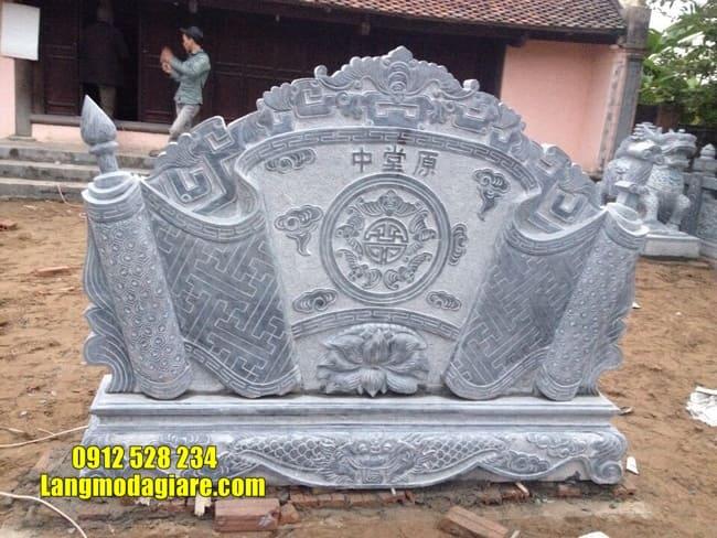 cuốn thư bằng đá tại Vĩnh Phúc