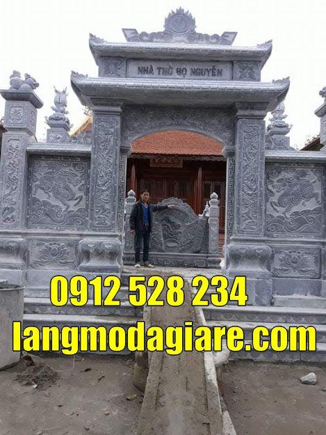 mẫu cổng nhà thờ tộc bằng đá đẹp