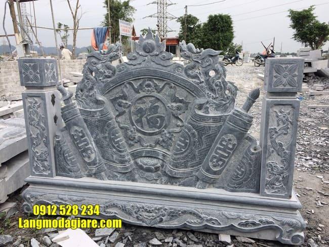mẫu cuốn thư bằng đá tại Vĩnh Phúc