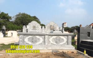 mẫu mộ đôi bằng đá đẹp tại Quảng Trị