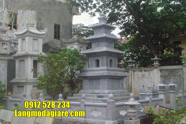 mẫu mộ đá hình tháp tại Ninh Thuận đẹp nhất