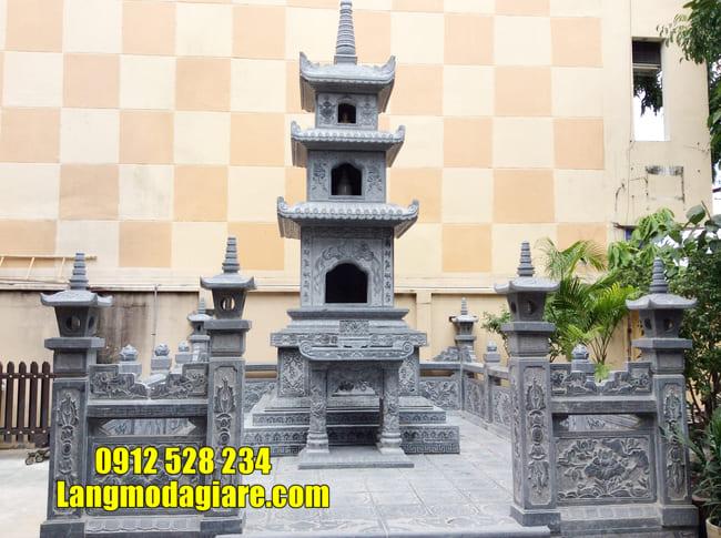 mẫu mộ đá hình tháp tại Ninh Thuận đẹp