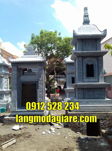 Xây tháp mộ phật giáo đẹp bằng đá tại Bình Thuận