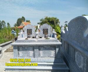 mẫu mộ đôi bằng đá đẹp tại Long An