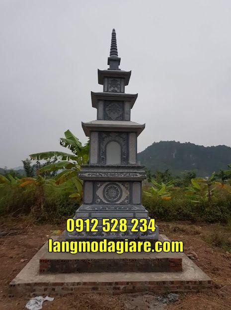 Tháp để hài cốt bằng đá tạiTrà Vinh
