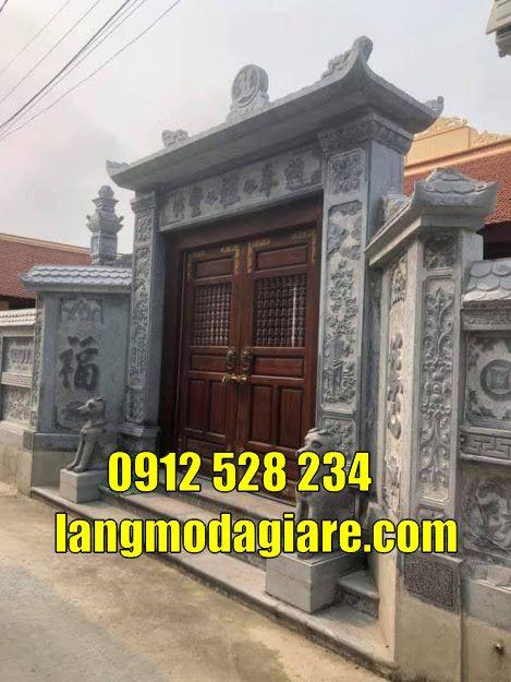 12 mẫu cổng đình làng đẹp bằng đá tại quảng ninh cổng nhà thờ họ