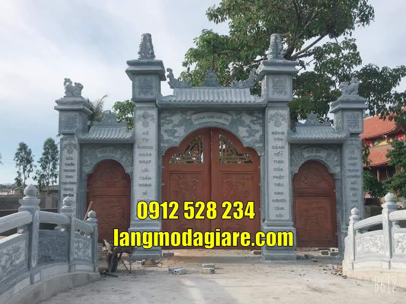 24 mẫu cổng nhà thờ họ đẹp bán tại huế Mẫu cổng đình làng đẹp