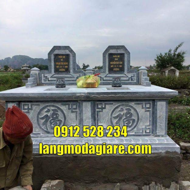 Mẫu mộ đá đôi đẹp bán tại Tây Ninh Mộ đá Tây Ninh