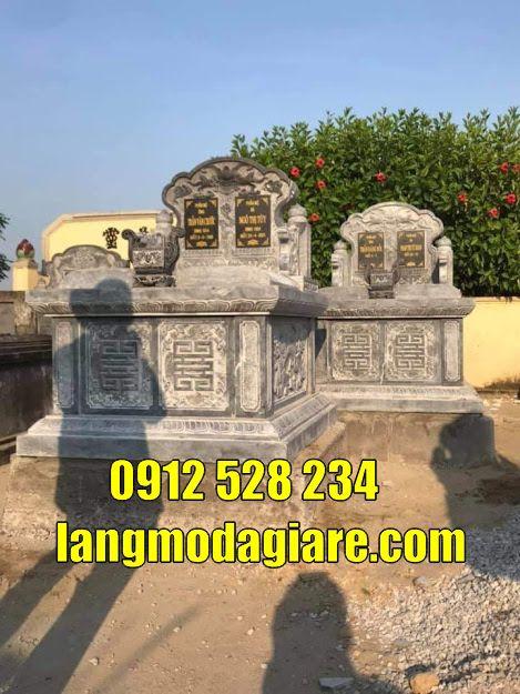 Mẫu mộ đôi đẹp bằng đá bán và lắp đặt tại Đồng Nai