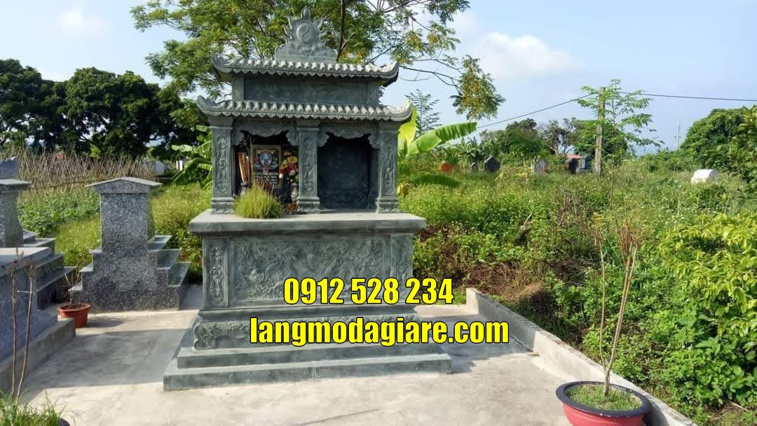 Mẫu mộ đôi đẹp bằng đá xanh rêu bán tại Vũng Tàu