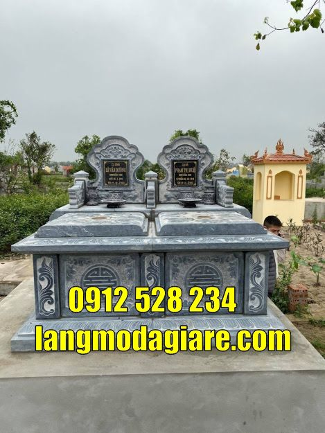 Mẫu mộ đôi đẹp tại Vũng Tàu bằng đá xanh tự nhiên