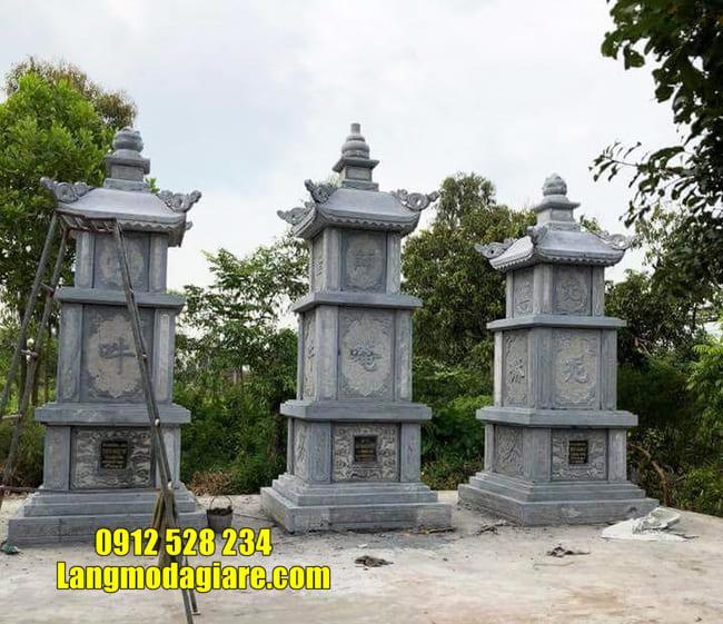 Mẫu tháp mộ bằng đá để hũ tro cốt tại Quy Nhơn