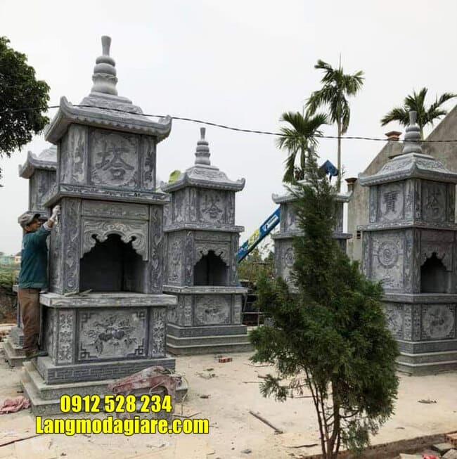 Mẫu tháp mộ đẹp tại Quy Nhơn - Xây tháp mộ đá tại Quy Nhơn đẹp nhất