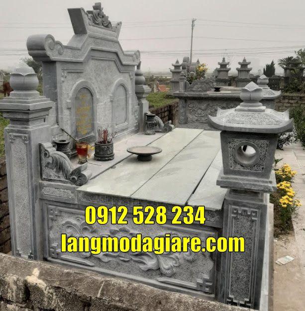 Mộ đá đôi đẹp bán và lắp đặt tại Tây Ninh