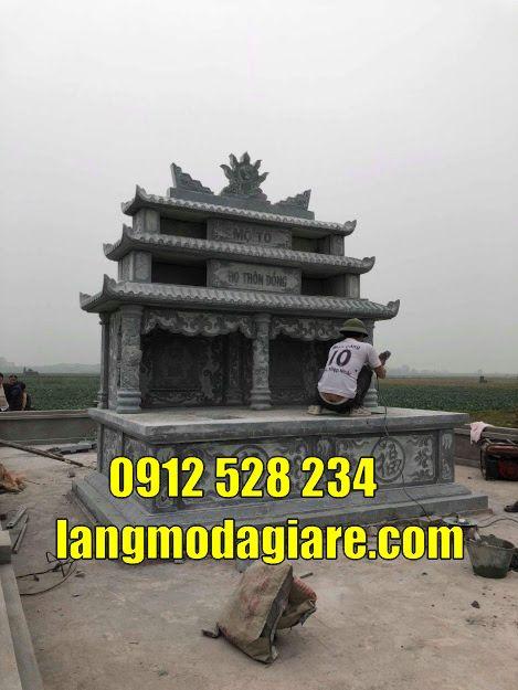 Mộ đôi bằng đá xanh nguyên khối bán tại Sài Gòn