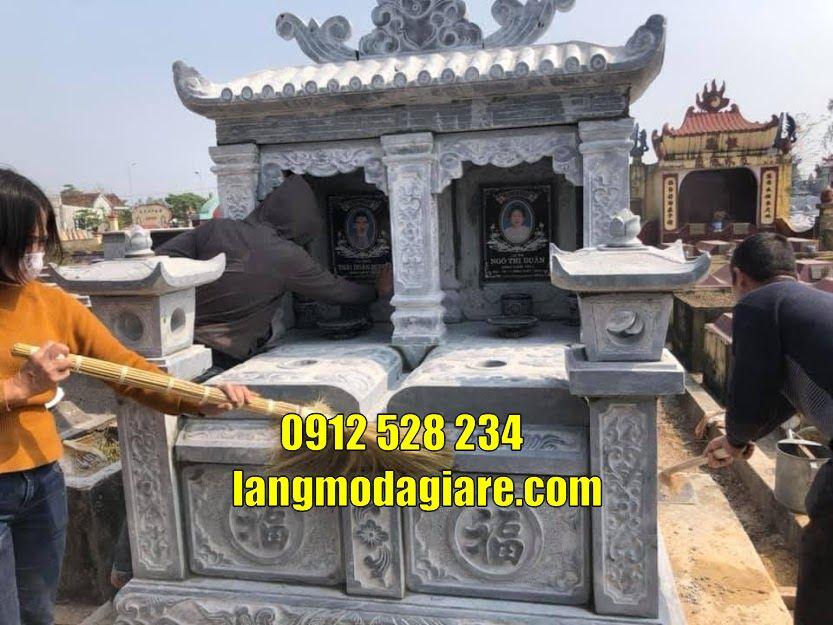 Mộ đôi đẹp bằng đá xanh bán tại Tây Ninh