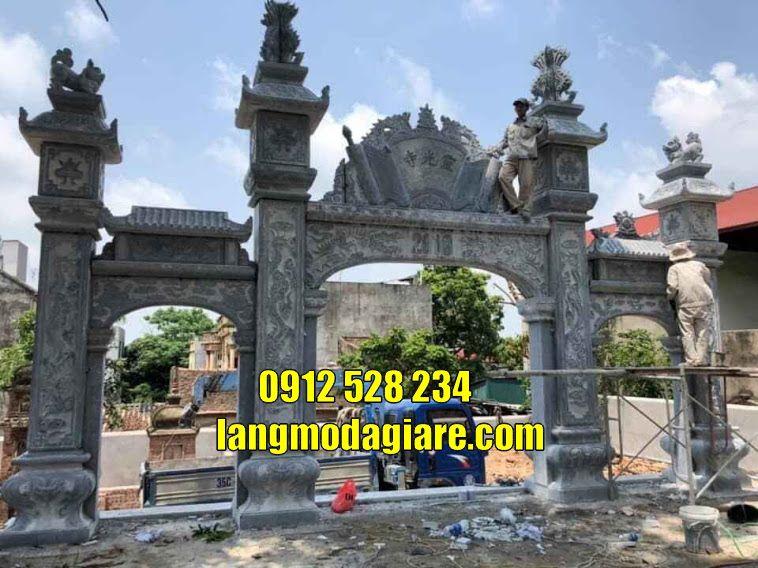 Các mẫu cổng chùa bằng đá cổng tam quan bằng đá đẹp