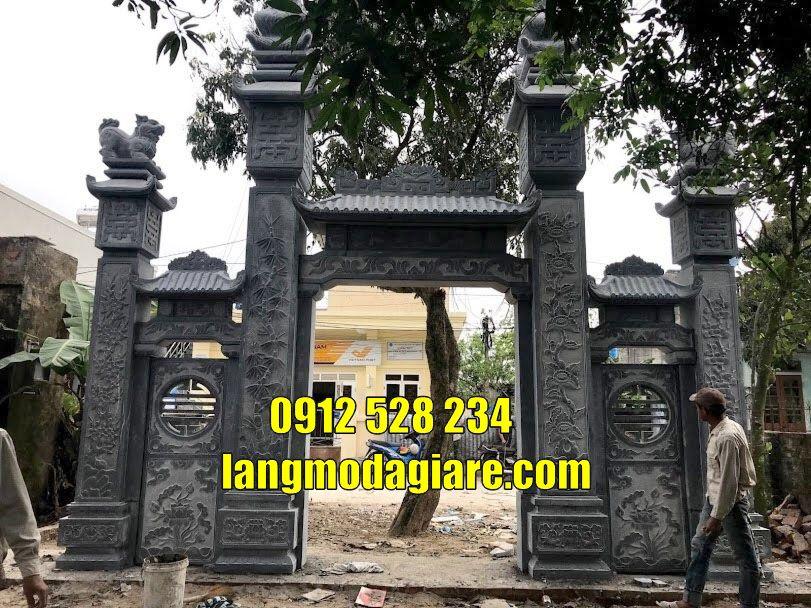 Cổng đình cổng làng đẹp bằng đá bán tại huế
