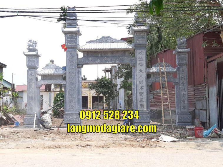 cổng làng đẹp bằng đá bán tại Hải Phòng