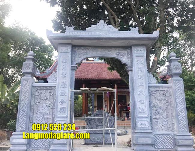 cổng nhà thờ họ bằng đá đẹp nhất tại Hà Nam