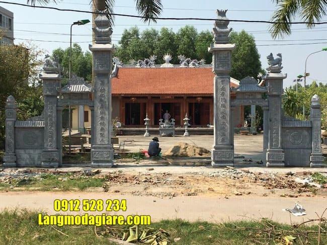 cổng nhà thờ họ bằng đá đẹp nhất tại Hưng Yên