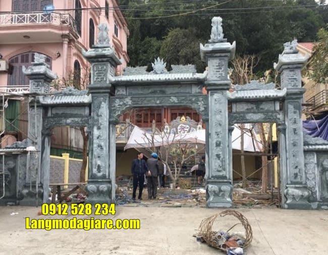 cổng nhà thờ họ bằng đá đẹp tại Hưng Yên