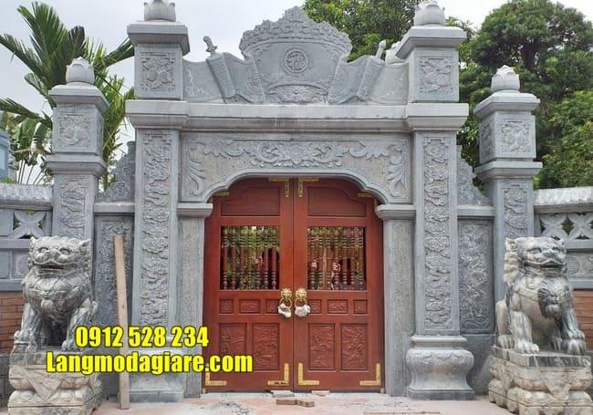 cổng nhà thờ họ bằng đá tại Hà Nam