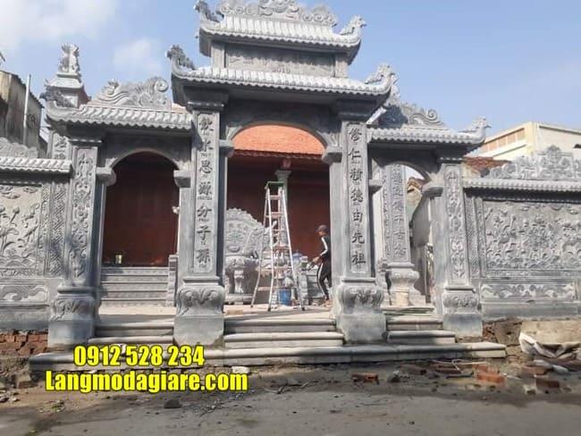 cổng nhà thờ họ đẹp nhất tại Hưng Yên