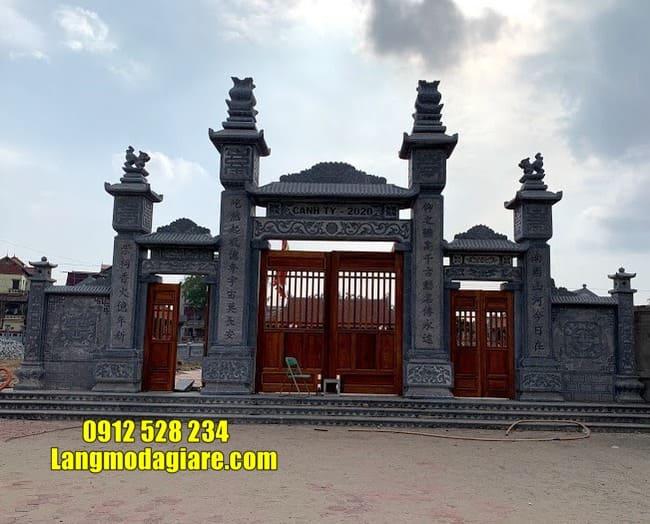 cổng nhà thờ họ đẹp tại Hà Nam