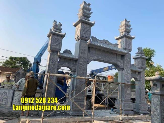cổng tam quan bằng đá tại Thái Bình