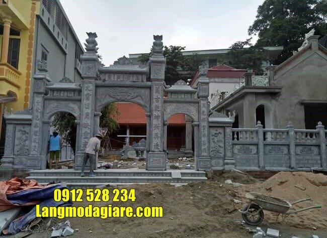 cổng tam quan bằng đá tại Vĩnh Phúc đẹp nhất