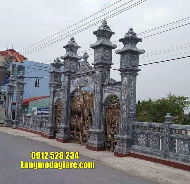 cổng tam quan bằng đá tại Vĩnh Phúc đẹp