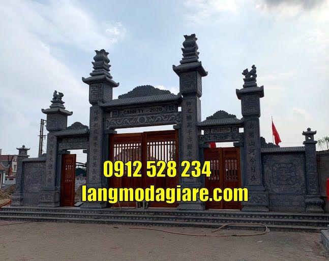 Cổng tam quan chùa đẹp bằng đá bán tại Tiền Giang