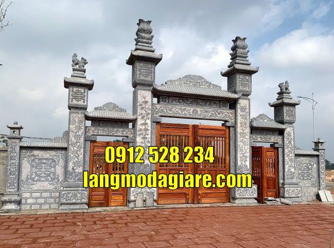 Cổng từ đường cổng đình làng cổng đá đẹp bán tại Nghệ An