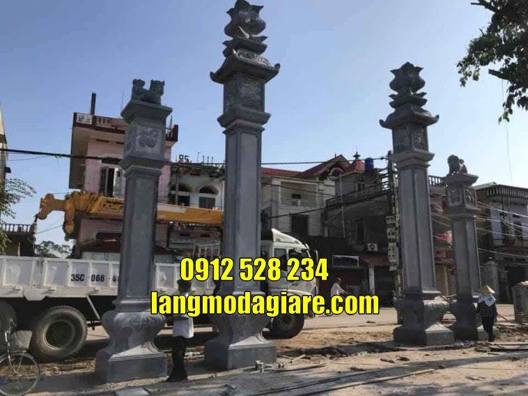 Địa chỉ bán mẫu cổng đình chùa đẹp tại Trà Vinh cổng đá tam quan