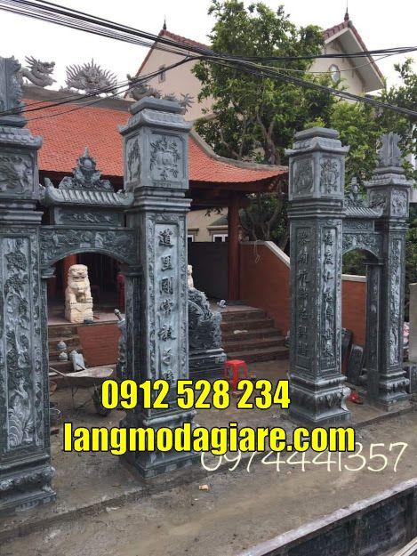 Hình ảnh mẫu cổng chùa đẹp thiết kế theo kiểu cổng tam quan bán tại Sóc Trăng