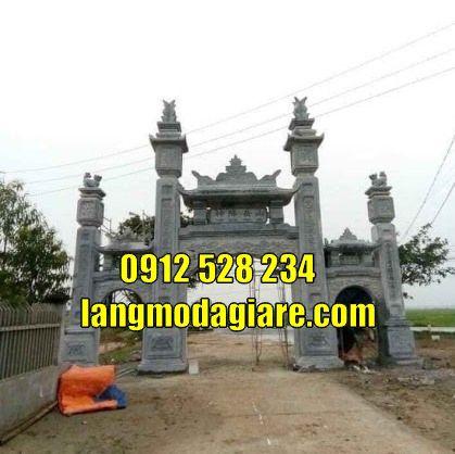 mẫu cổng chùa đẹp kiểu có gác tại Vĩnh Long