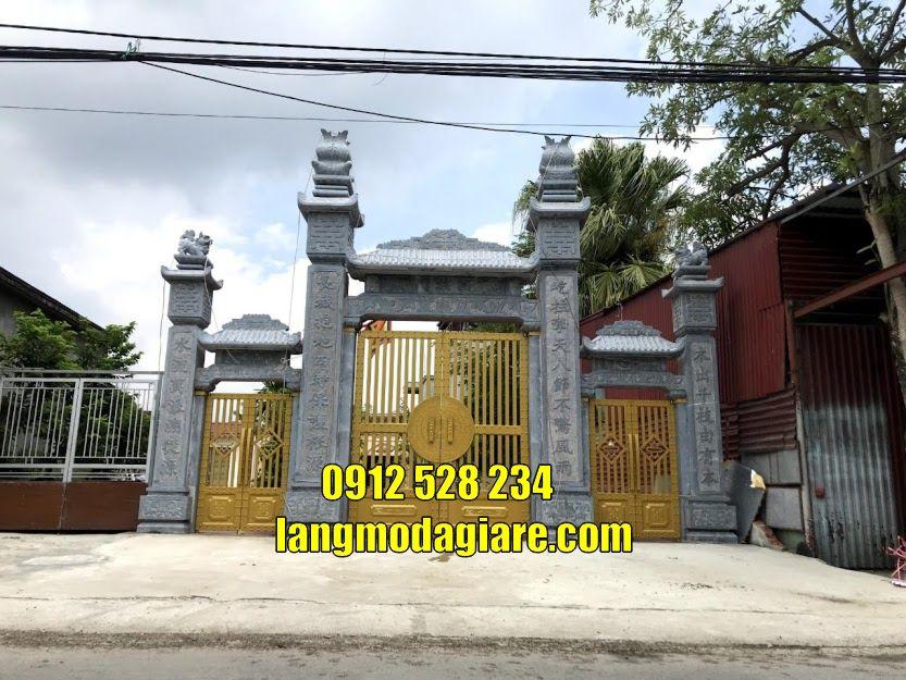 Mẫu cổng đá đẹp bán tại Hà Nam