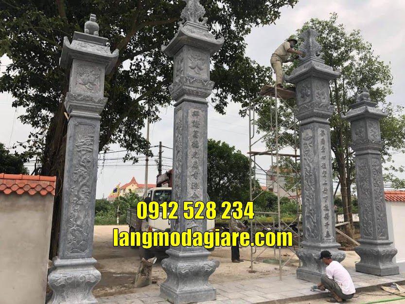 Mẫu cổng đá đẹp bán tại quảng bình Cổng từ đường bằng đá