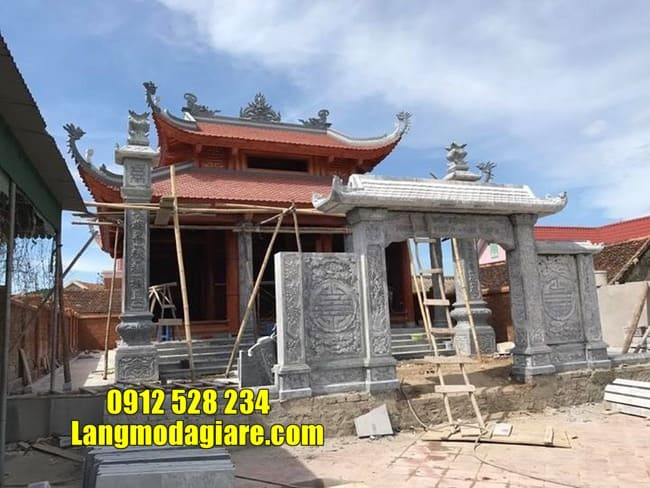 mẫu cổng đá đẹp tại Vĩnh Phúc
