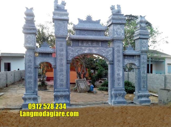 mẫu cổng đá nhà thờ họ đẹp nhất tại Hà Nam